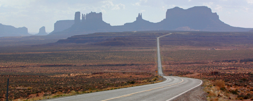 Monument Valley. Road trip USA.