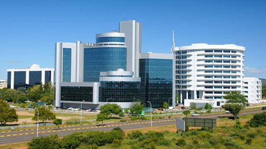 Financial District, Gaberone, Botswana.